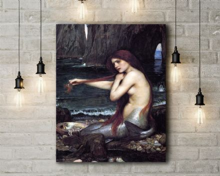 John William Waterhouse: The Mermaid. Fine Art Canvas.